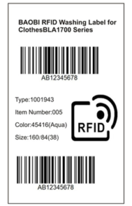 #BLA1700 RFID Clothes Washing Label